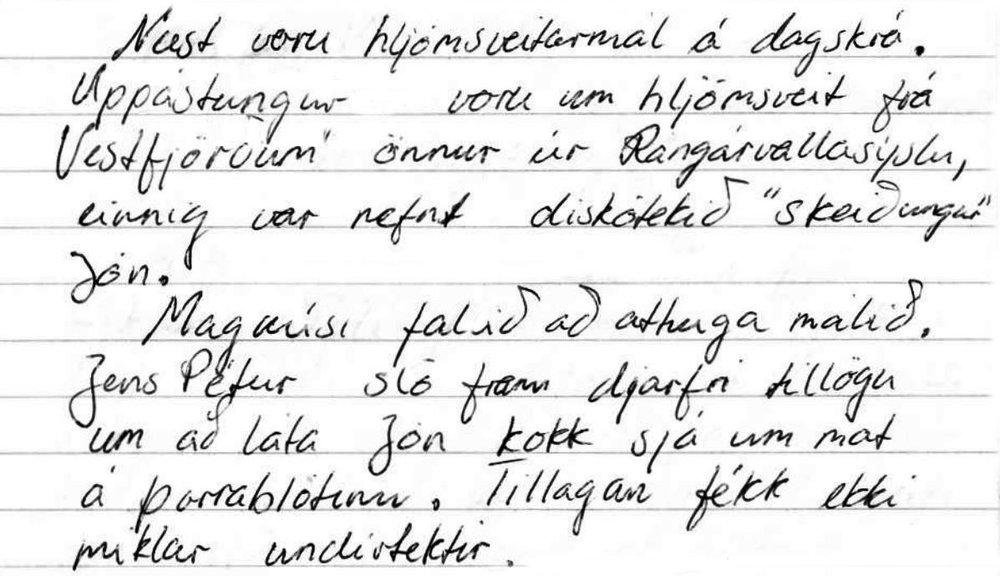 Úr fundargerð 1995