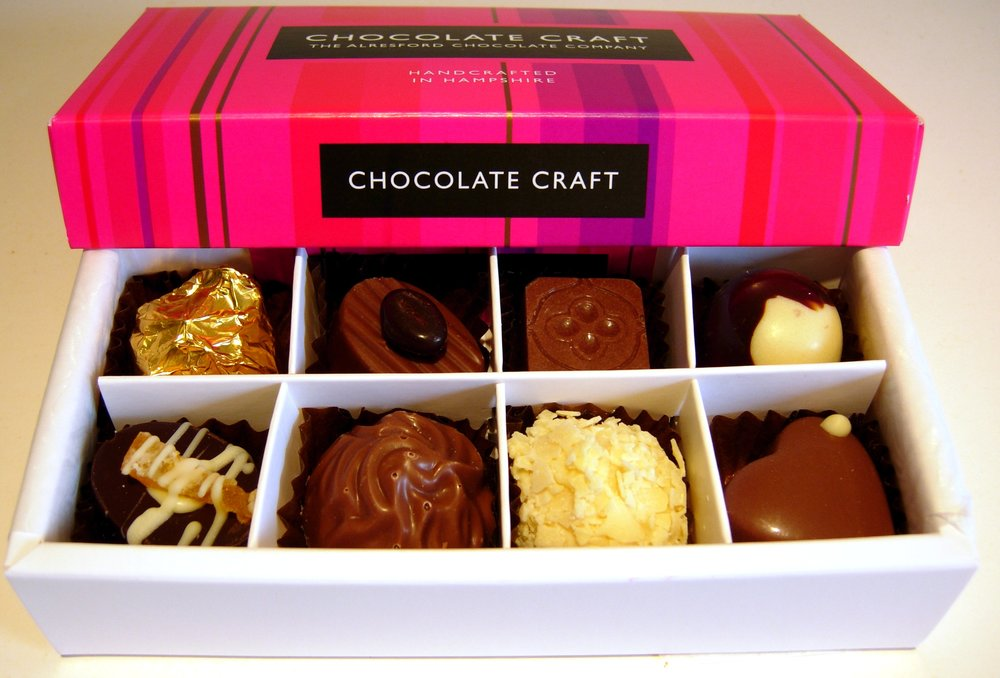 Add a selection of 8 handmade chocolates to your flowers for £10
