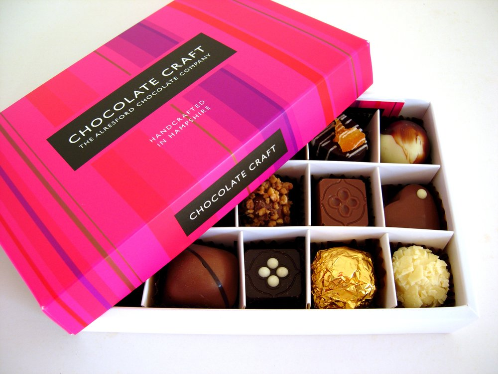 Add a selection of handmade chocolates to your flowers for £16