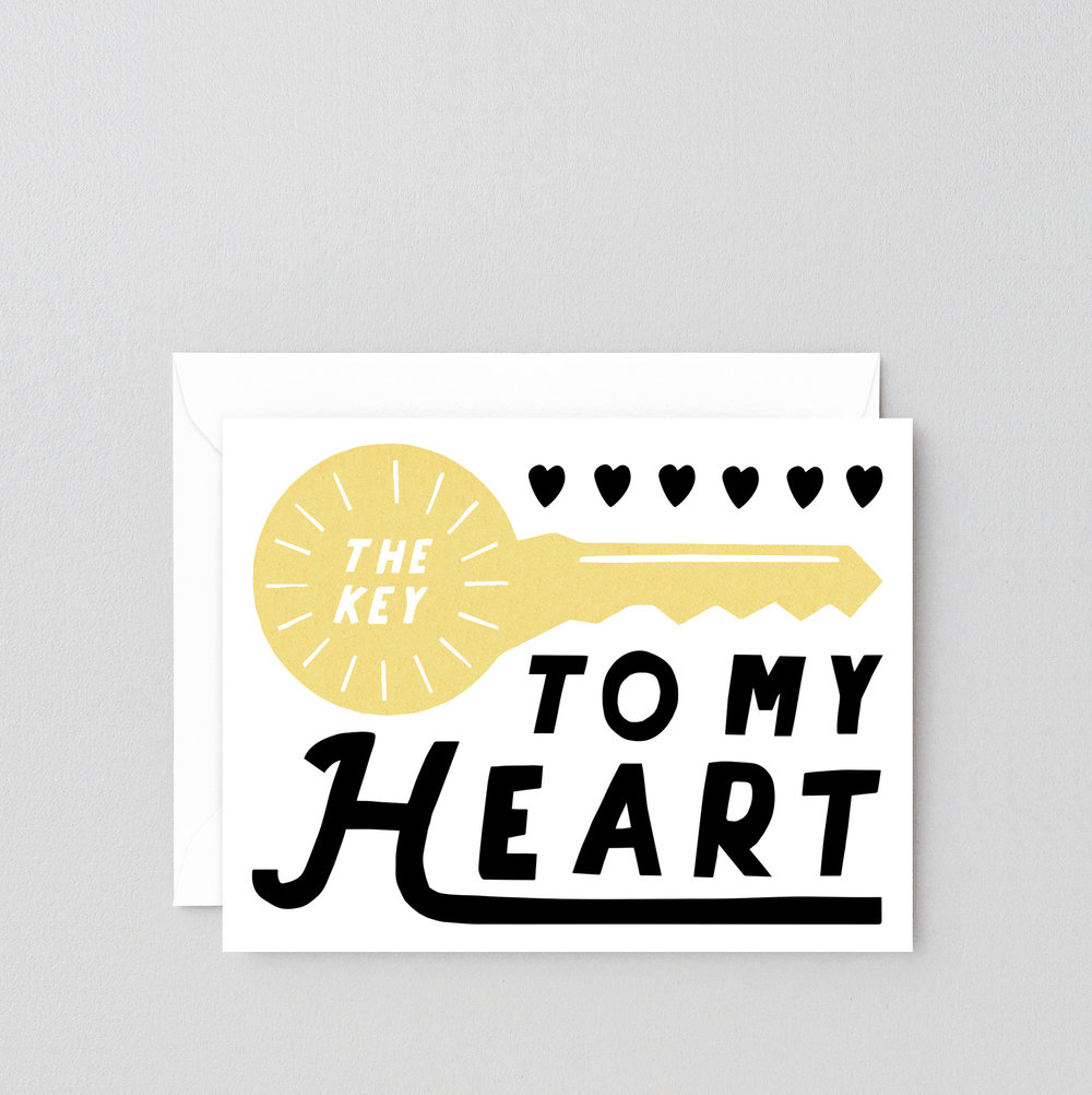 Key To My Heart Greeting Card Wrap