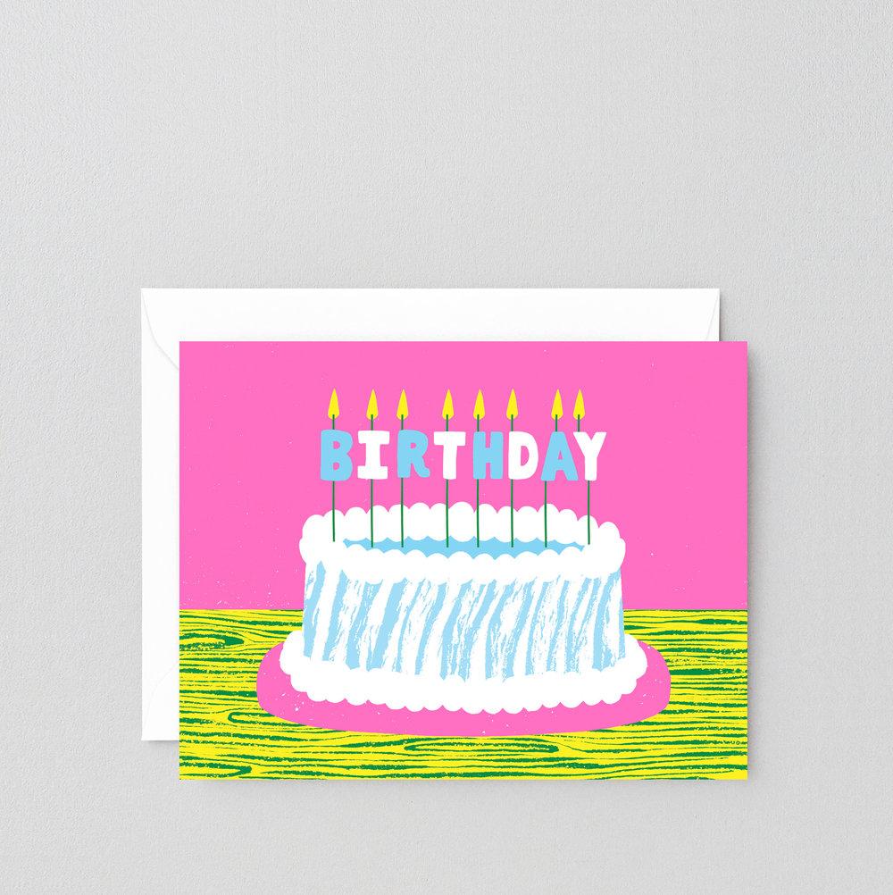Birthday Cake Greeting Card Wrap