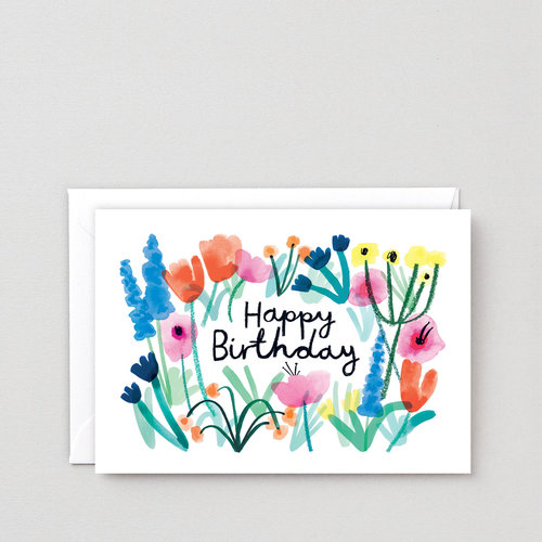 Greetings cards wrap happy birthday floral greeting card m4hsunfo