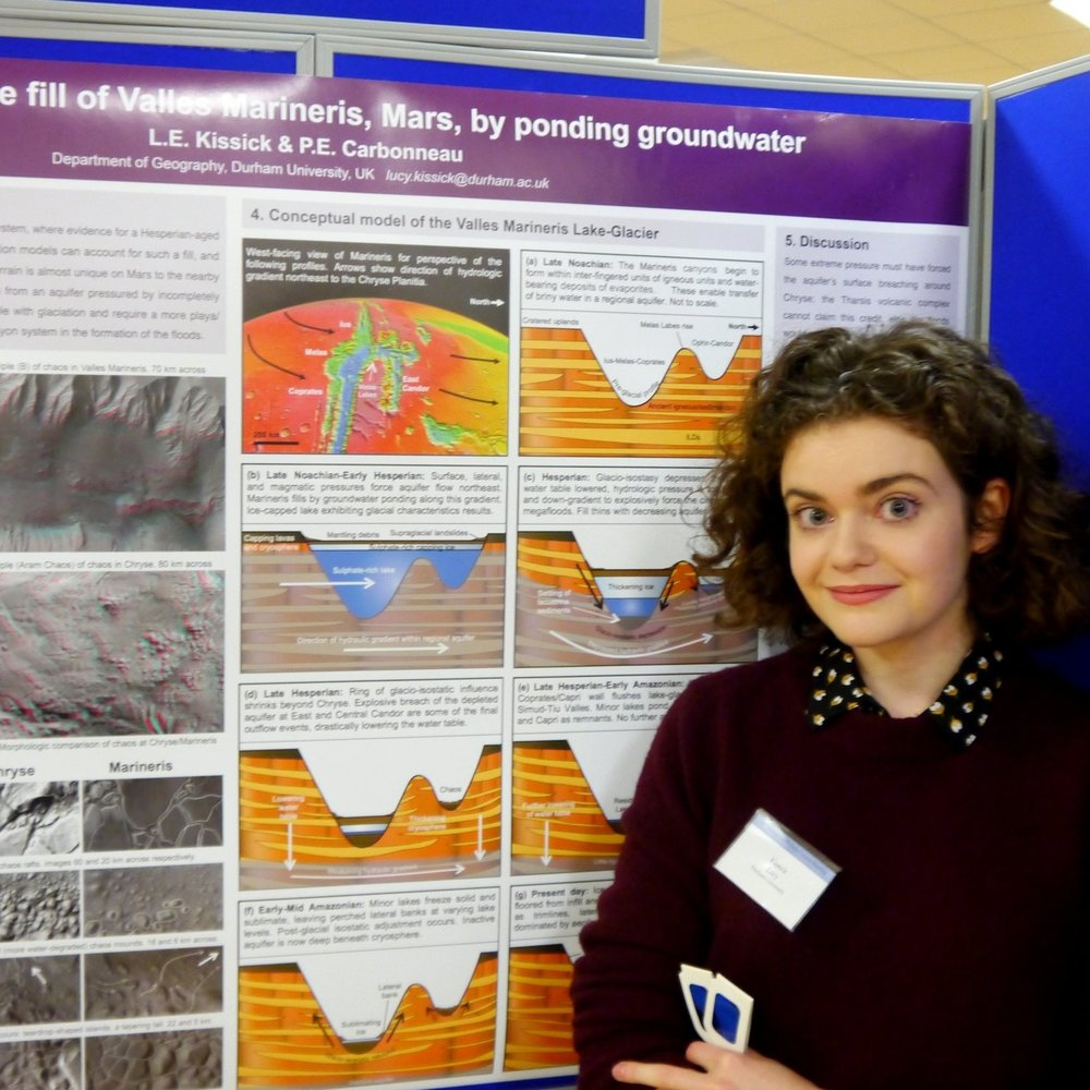 With my poster at the UK Planetary Forum in 2016, which won second prize.