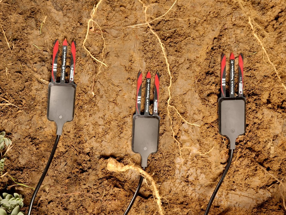 Lots of digging holes in fields and sticking these probes in with exhausted arms.