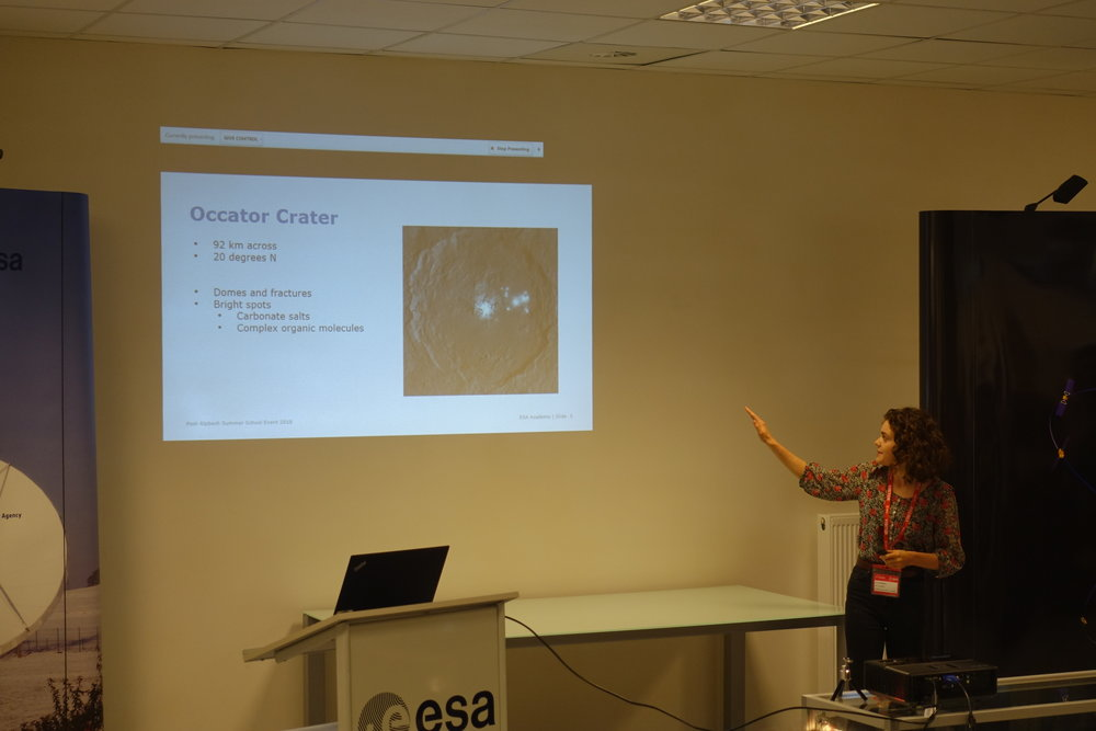 Presenting the science case and instrument payload to the ESA base ESEC-Regu.