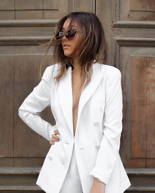 Stay classy, sassy and a bit bad assy babes 〰️ ESPY is all about being bold and daring, we have always been a fan of power dressing and what better way than with a white suit? Do you guys love or hate it?