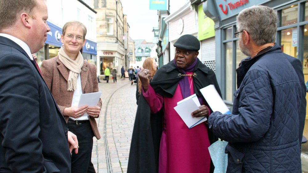 The Archbishop of York at the opening of Northumberland Community Bank