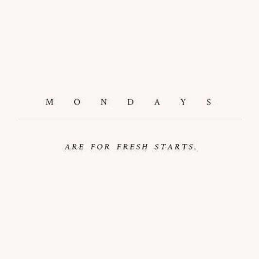 Feliz inicio de semana!! ✨
