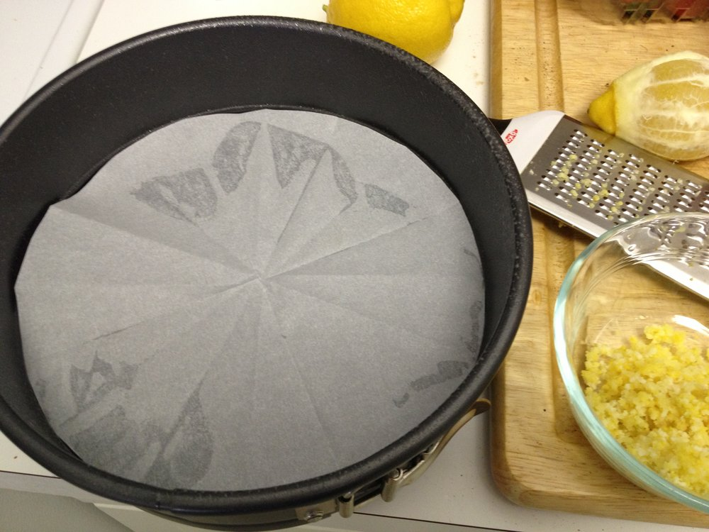 Ever made a paper snowflake? Then you have the skills to make a perfect parchment paper circle to line your springform pan.