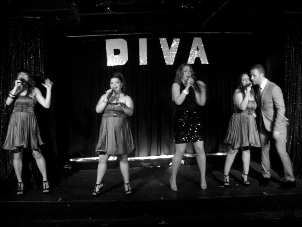 Performing with Marty Thomas's DIVA