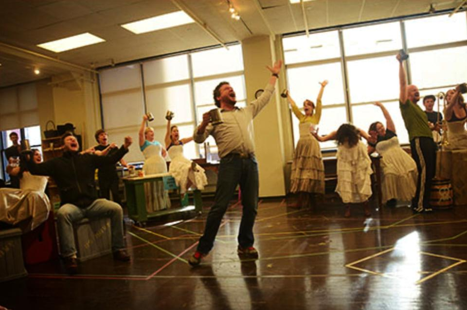 """Oliver!  at Paper Mill Playhouse - press day, """"Oom-pa-pa"""""""