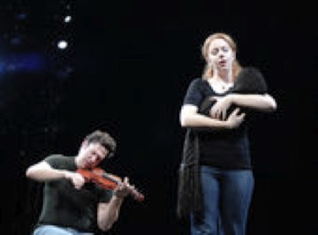 Frankenstein  Off-Broadway - with yet another fake babe