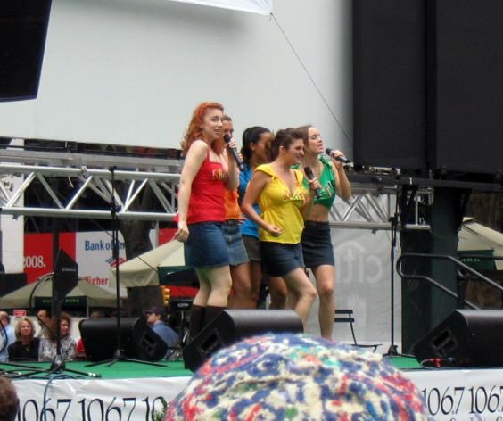 Shout! the Mod Musical  performs at Broadway in Bryant Park