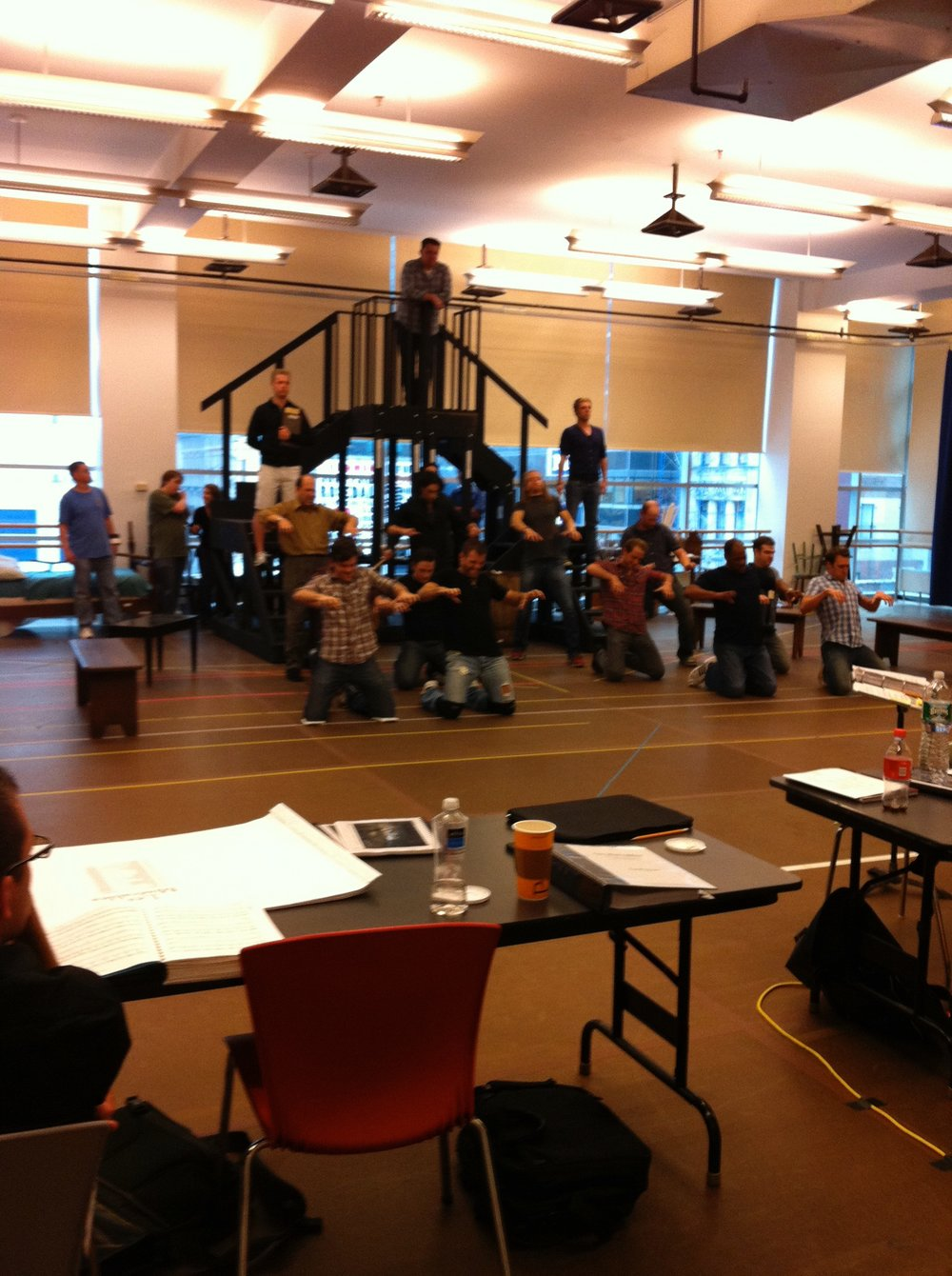 Day one of rehearsal, 25th anniversary  Les Mis  Tour