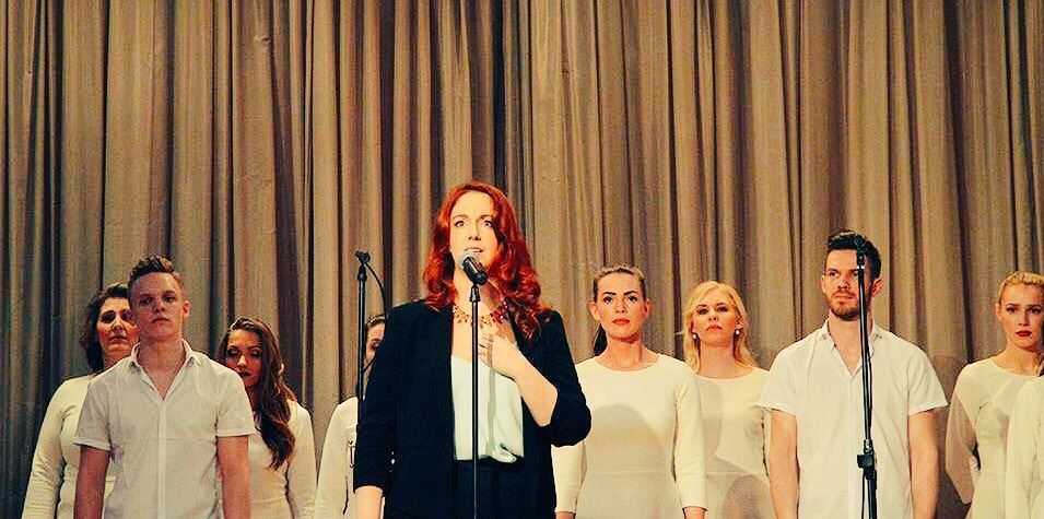 Performing a selection from  The Innocence  for the Estonian cultural festival