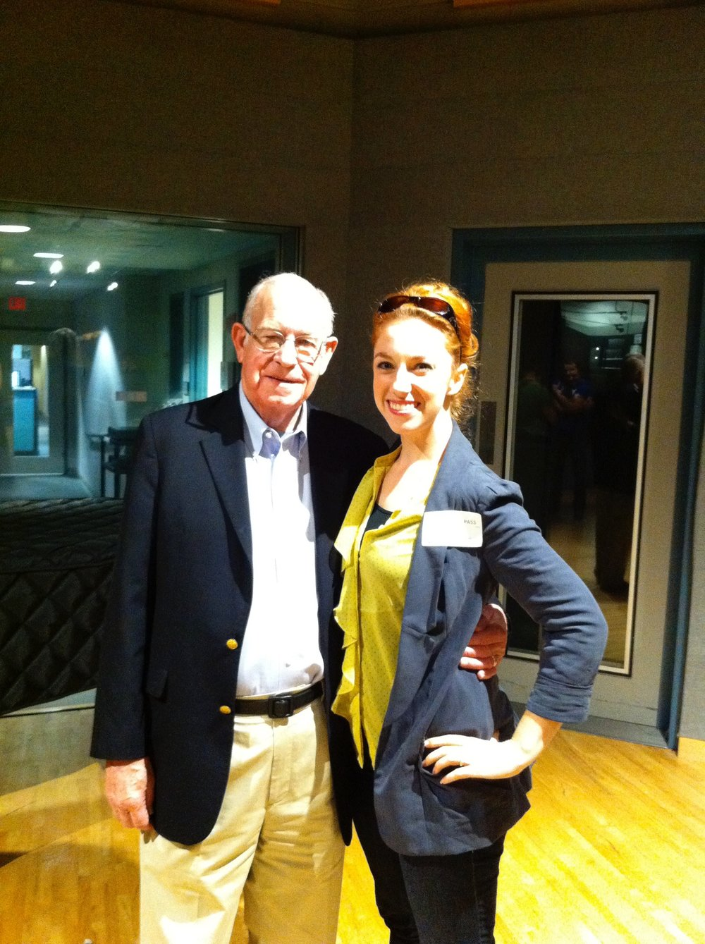 A visit to the NPR offices, where I met the legendary Carl Kassel - we bonded over both having been in the Lost Colony!