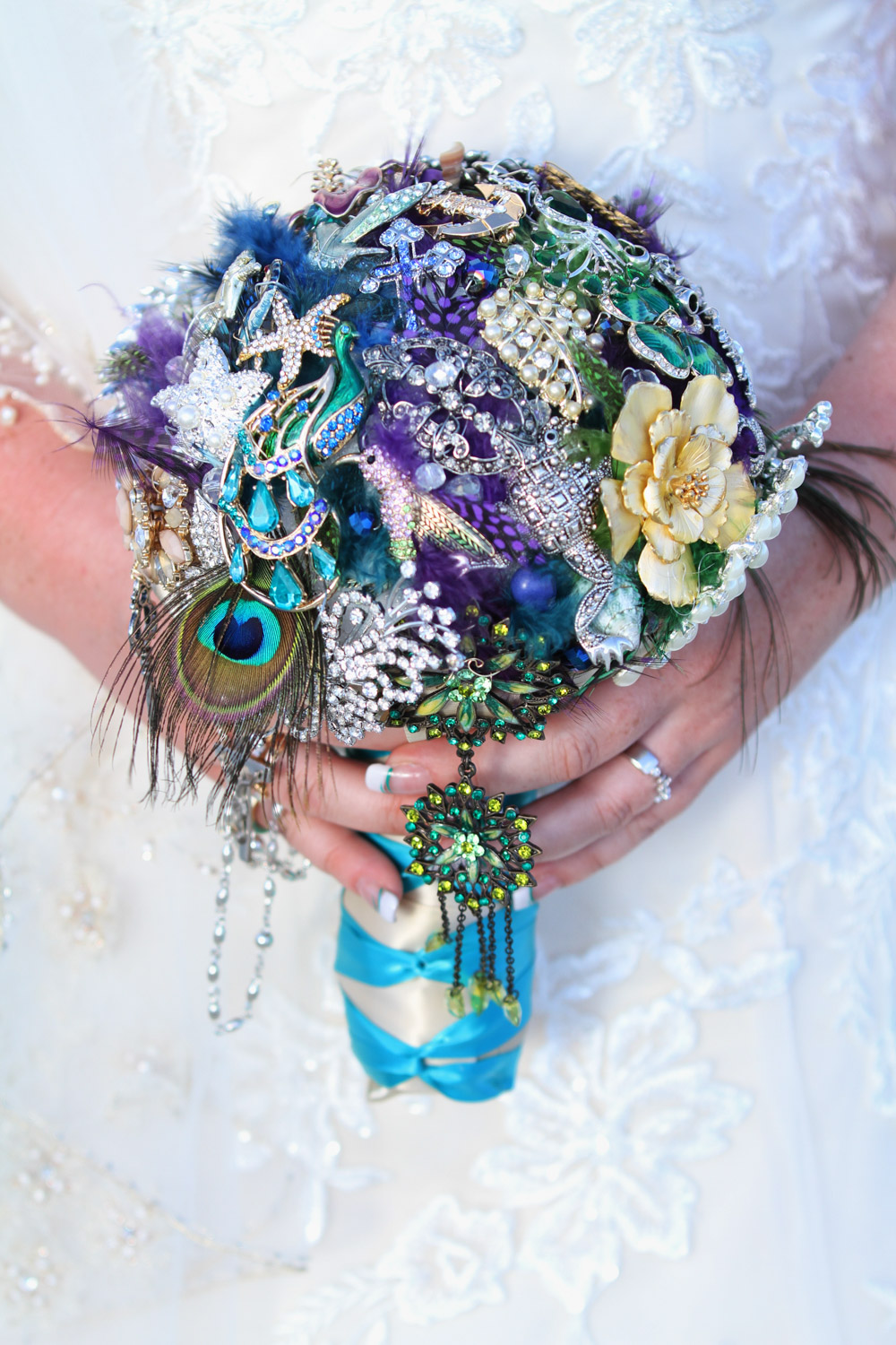 Brooch Bouquet Wedding Detail Photography