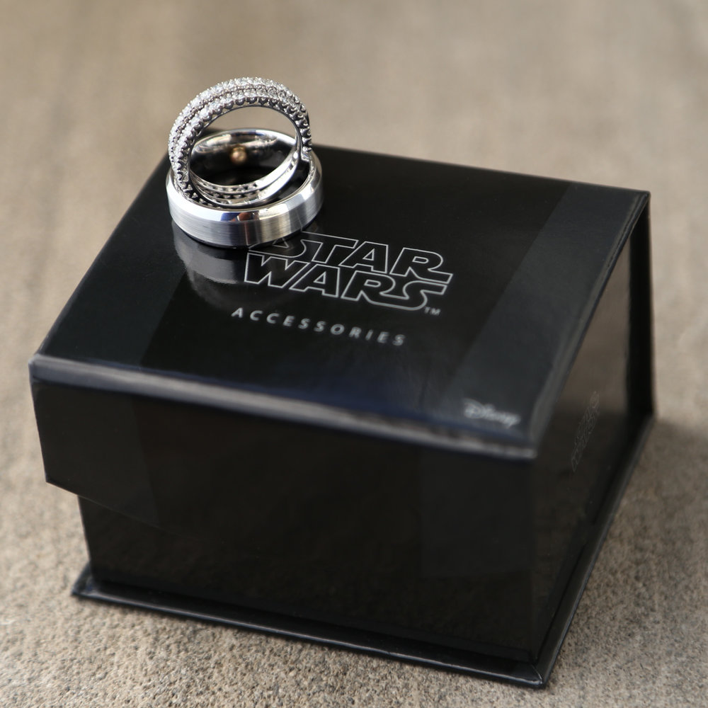 Star Wars Themed Wedding Rings Wedding Details Photography