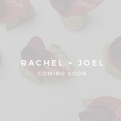 Rachel + Joel | Wedding Invitations, Collateral