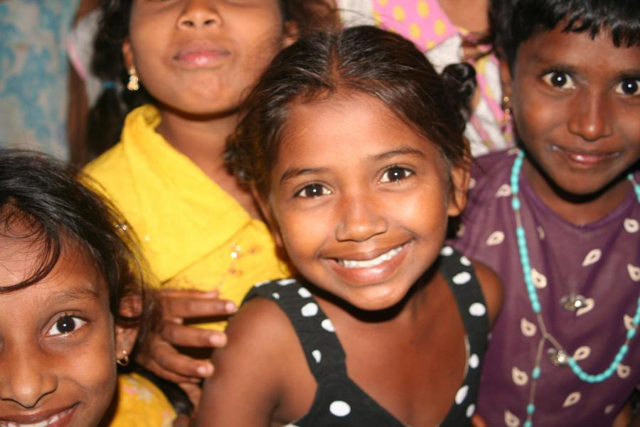 The beautiful smiling children of the Dalit people