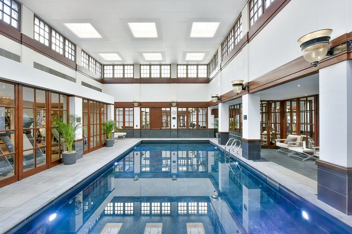 The refurbished indoor pool at The Savoy