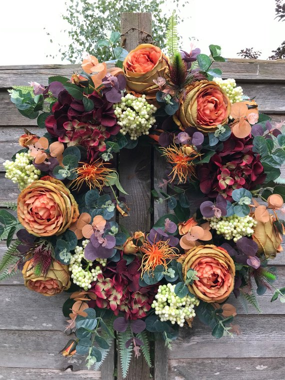 This wreath is so stunning, I'd have it up all year round - TheBigDoorWreathComp via Etsy