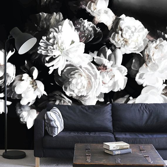 Bouquet of Peonies Mural - www.anewall.com