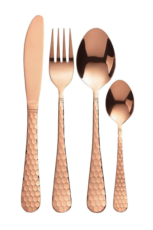 Copper Coloured cutlery set -  www.studio.co.uk