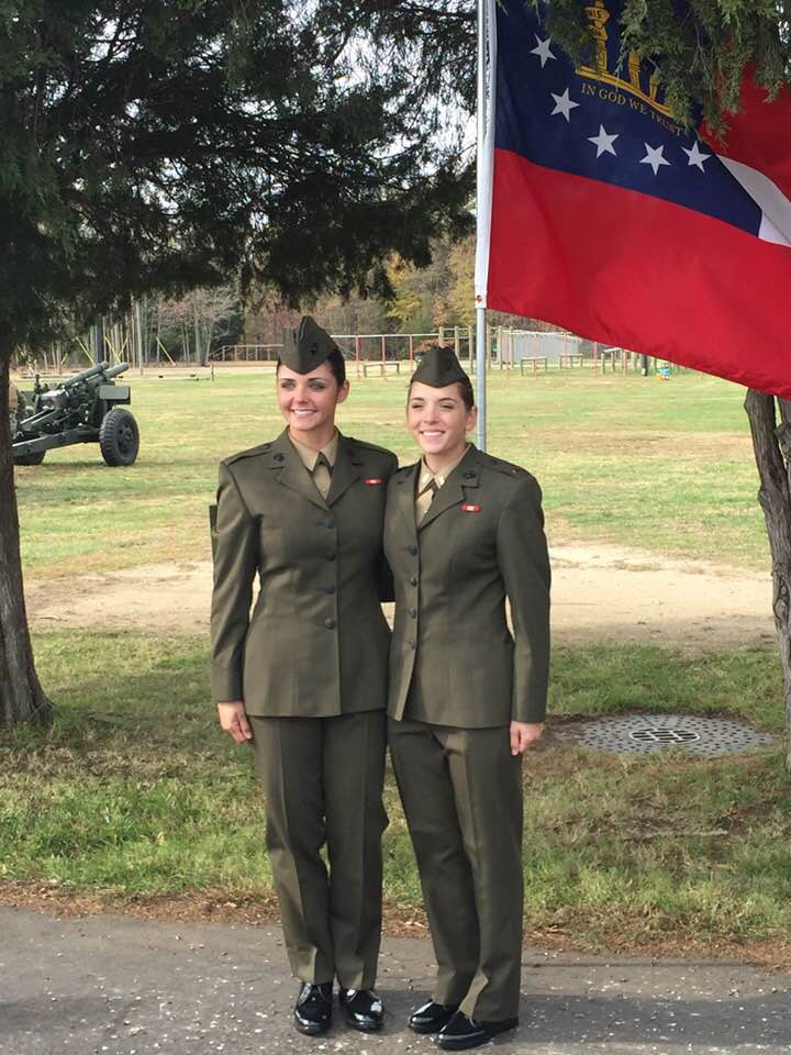 2LT Jade MacLeish (left) and 2LT Emily Roemer (right)