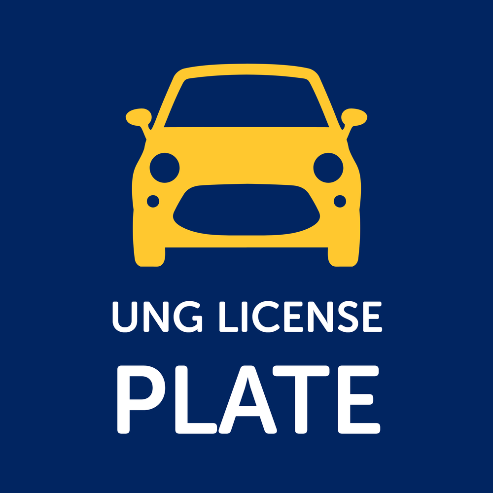 Button for UNG License Plate