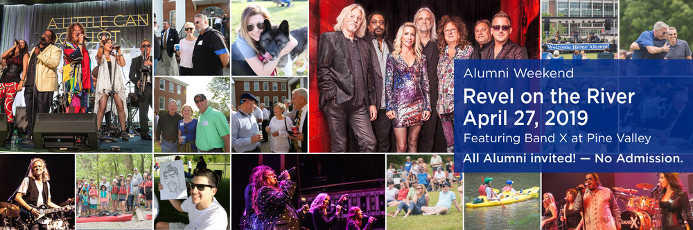 Revel on the River April 29, 2019 Featuring Band-X at Pine Valley. All Alumni invited! No Admission.