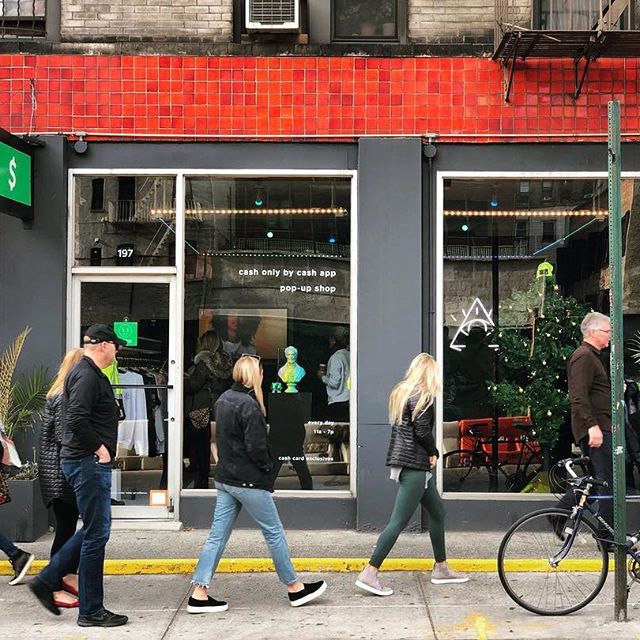 Cash App Pop-Up Store on 197 Mulberry Street, NYC