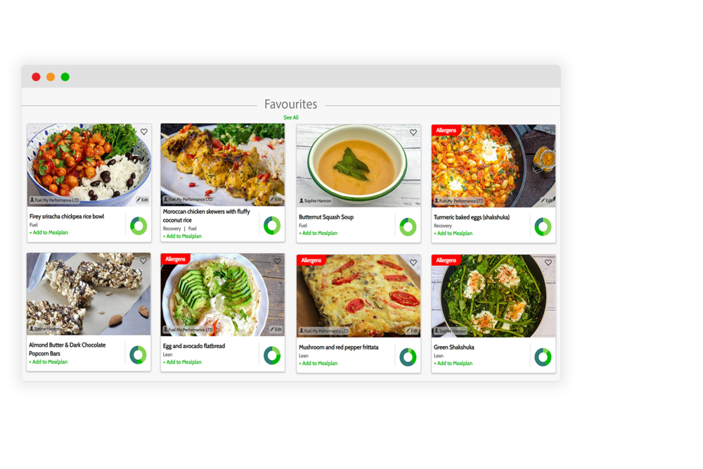 Recipes for workshops - Use our database of recipes that have been developed by SENr and AfN accredited nutrition professionals and trained chefs. Use our recipes in cooking workshops to help your students become more competent in the kitchen in the hope that they can pass their skills on to their clients and athletes.