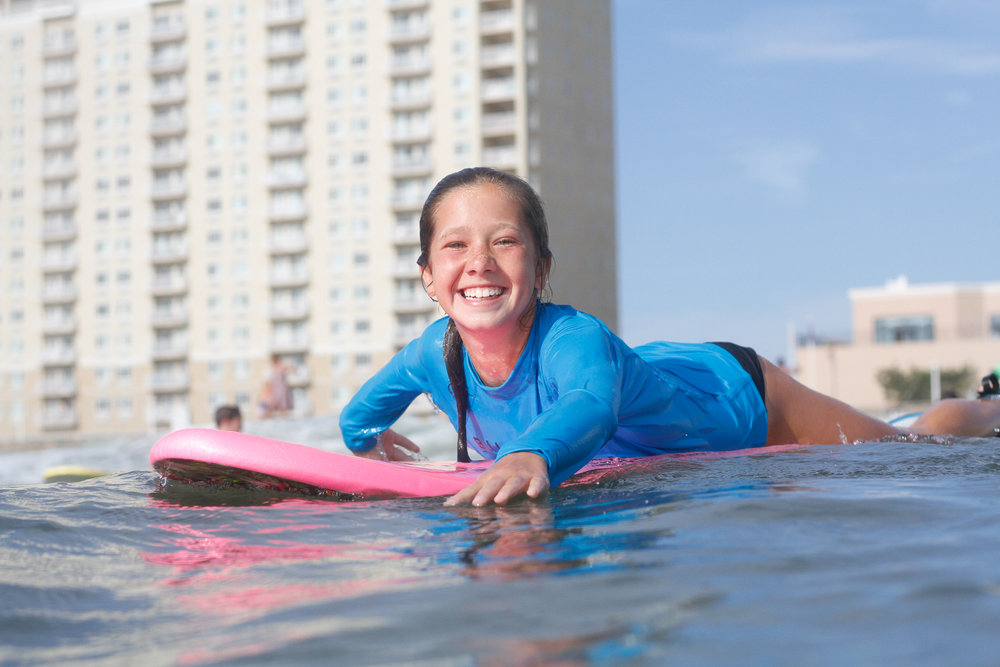 F.A.Q - What if I've never surfed before?                                                                                           Our camps are designed for beginners. No one gets left behind. With our 1:4 instructor/student ratio, everyone receives individual attention