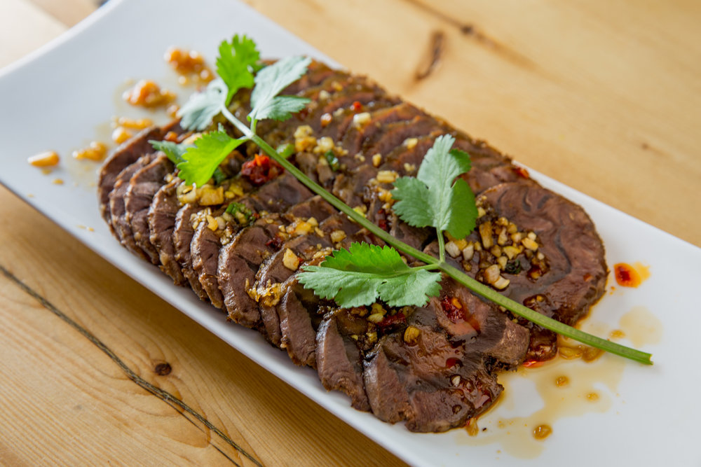 Sliced Beef in Sesame Chili Sauce