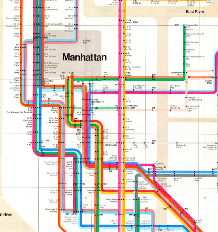 Massimo Vignelli's 1972 NY Subway map.