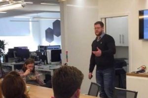Dr Paul Rimmer drops performance nutrition knowledge-bombs at a recent TRA lecture.
