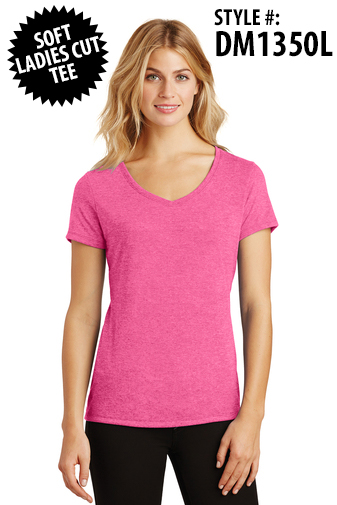 FASHION TRI-BLEND LADIES TEE - [CLICK HERE FOR MORE COLORS AND INFO]