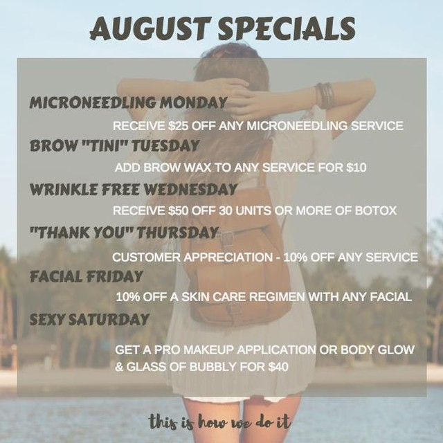 August Specials @ TheRP