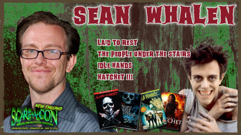 SCARE-A-CON, NEW ENGLAND - SPRINGFIELD, MA  - JUNE 15TH-17THhttp://scareacon.com/scare-a-con-new-england/celebrities-ne/MEET, GREET, AUTOGRAPHS