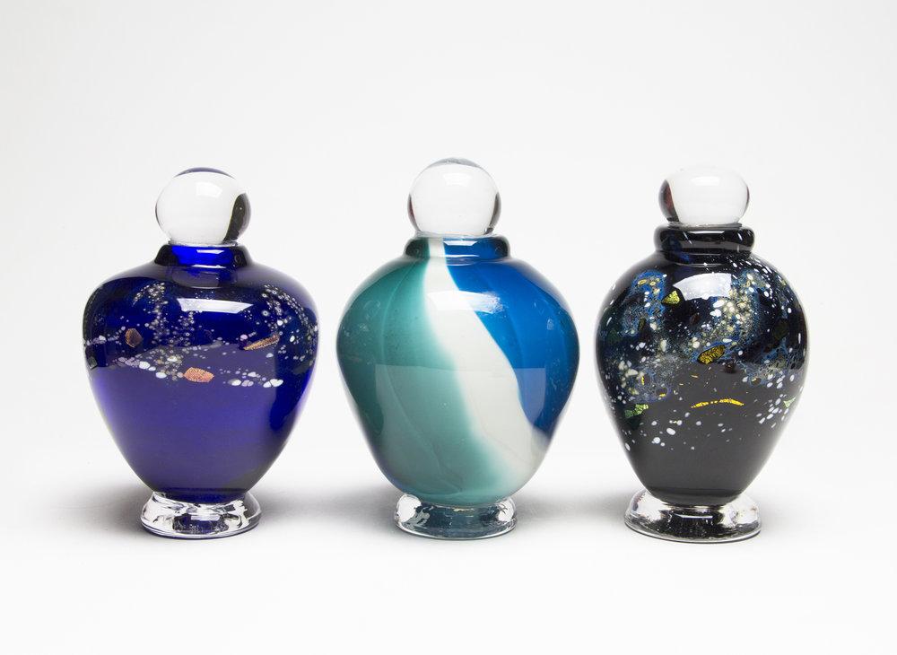 Cobalt Urn, Ocean Urn, Galaxy Urn
