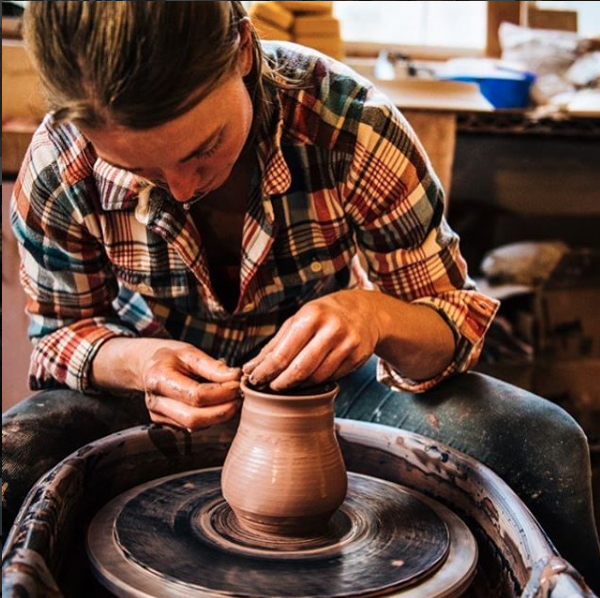 Kim Hall of Alpine Earthworks Pottery