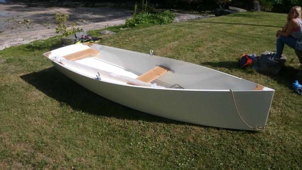 Bildet viser båten som deltakerne skal bygge selv.