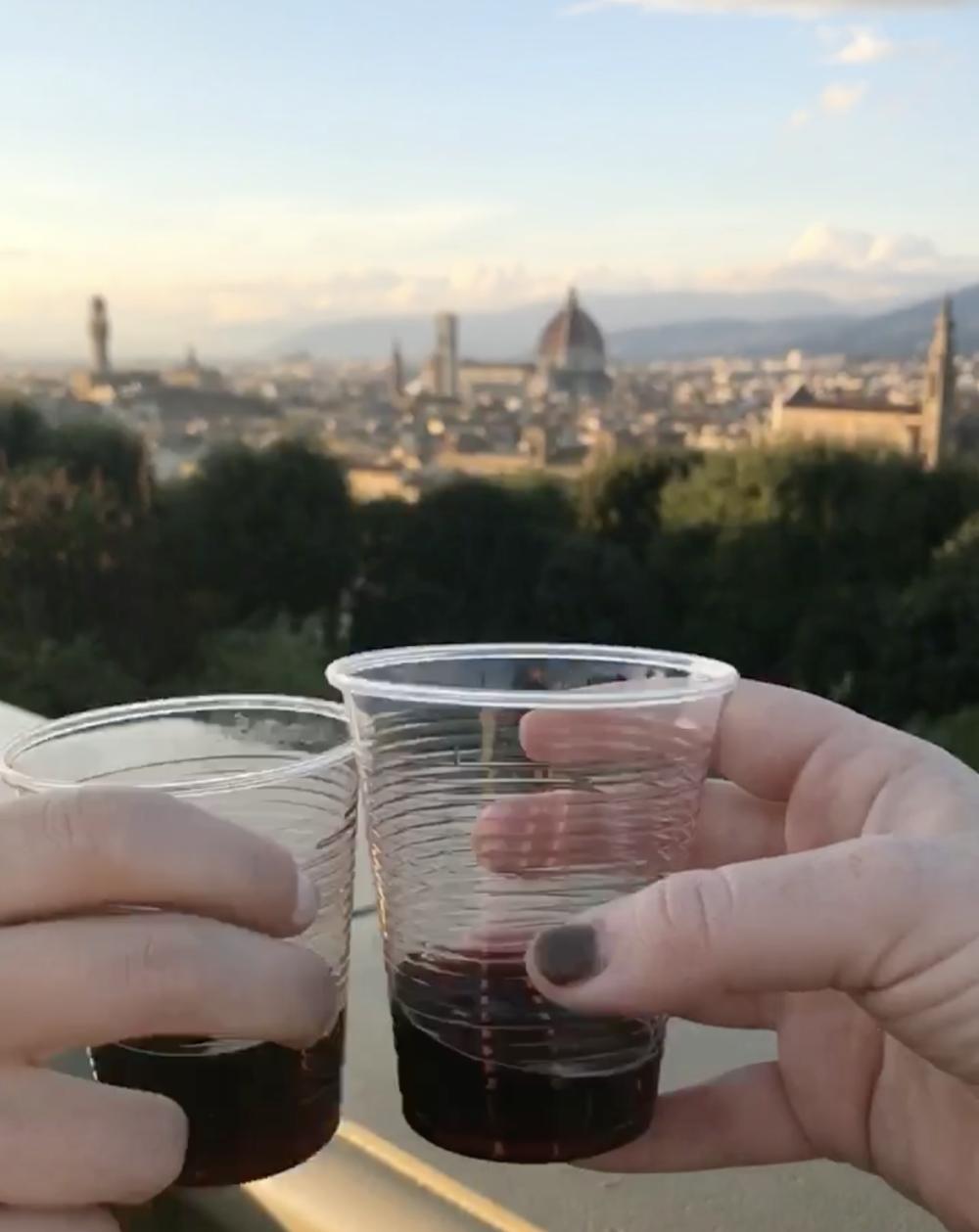 vino at piazzale michelangelo.