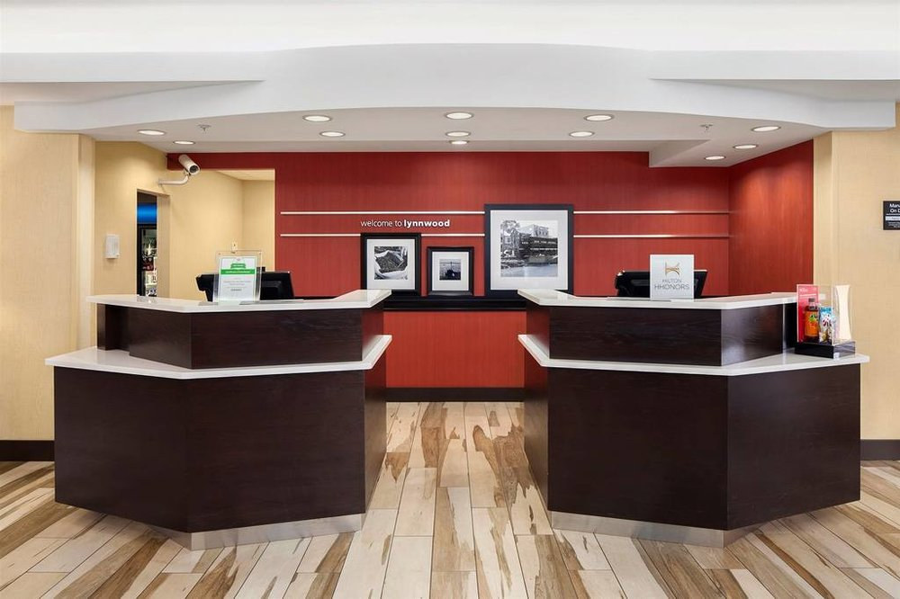 Hampton Inn & Suites Seattle North/Lynnwood   19324 Alderwood Mall Parkway,Lynnwood, Washington, 98036, United States  (425) 771-1888   info@hamptonseattlenorth.com   Our newly renovated Hampton Inn & Suites in the heart of the shopping district of Lynnwood has got style and class and all the freebies you love like our free hot breakfast, our daily evening reception or our brand new High-Speed WIFI.