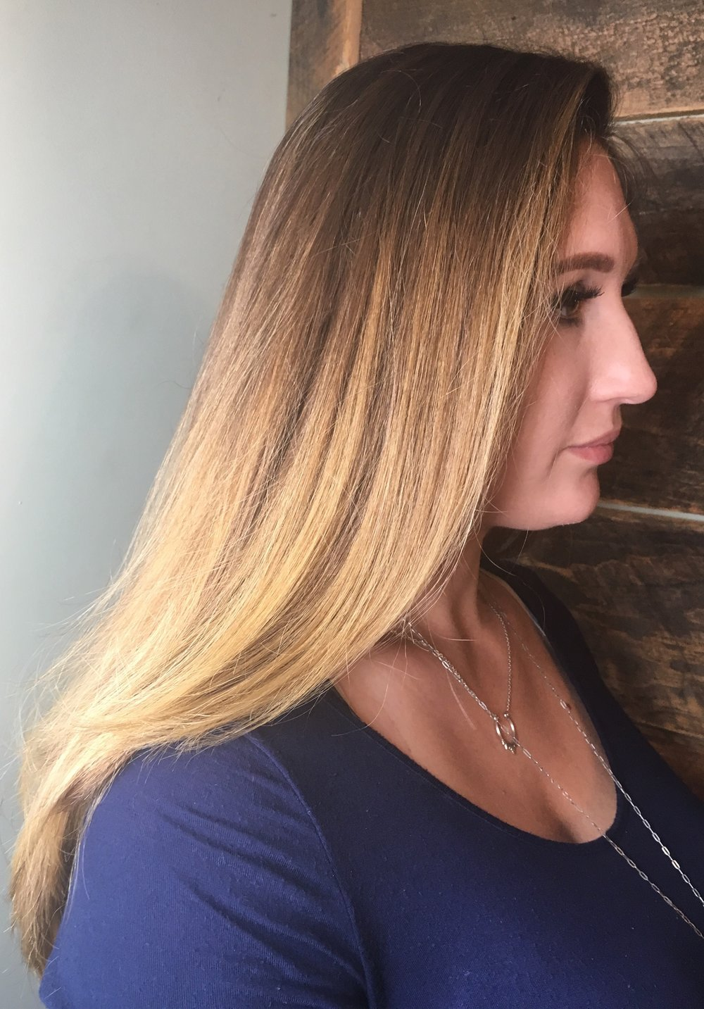 Amazing Seamless Ombre  Hair By: Monica P Watkins Hair Babe Studio