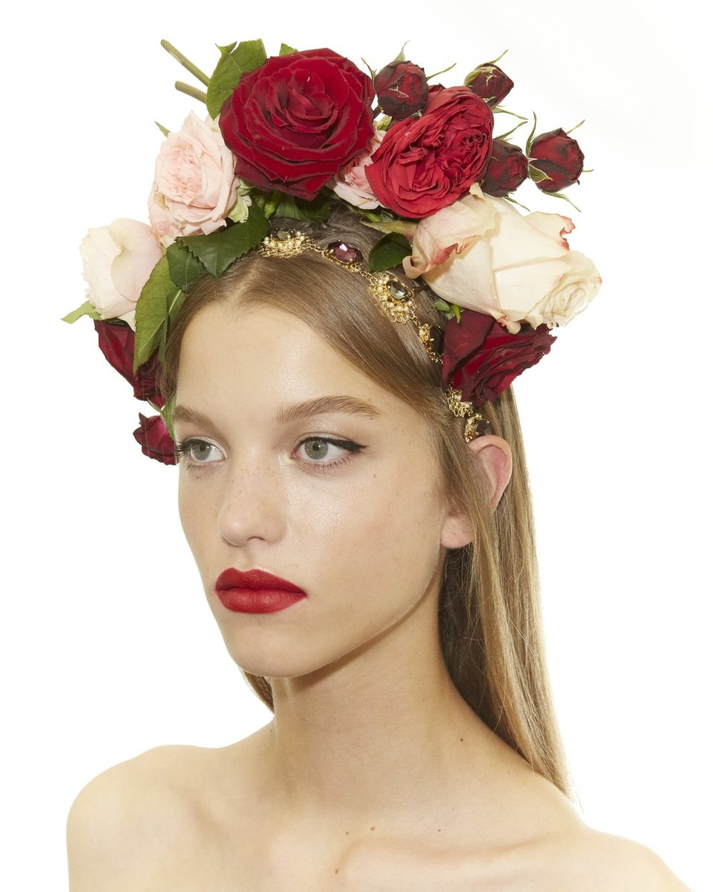 PHOTO: PHOTO COURTESY OF INSTAGRAM: @SAMMCKNIGHT1  The Headpieces at Dolce & Gabbana