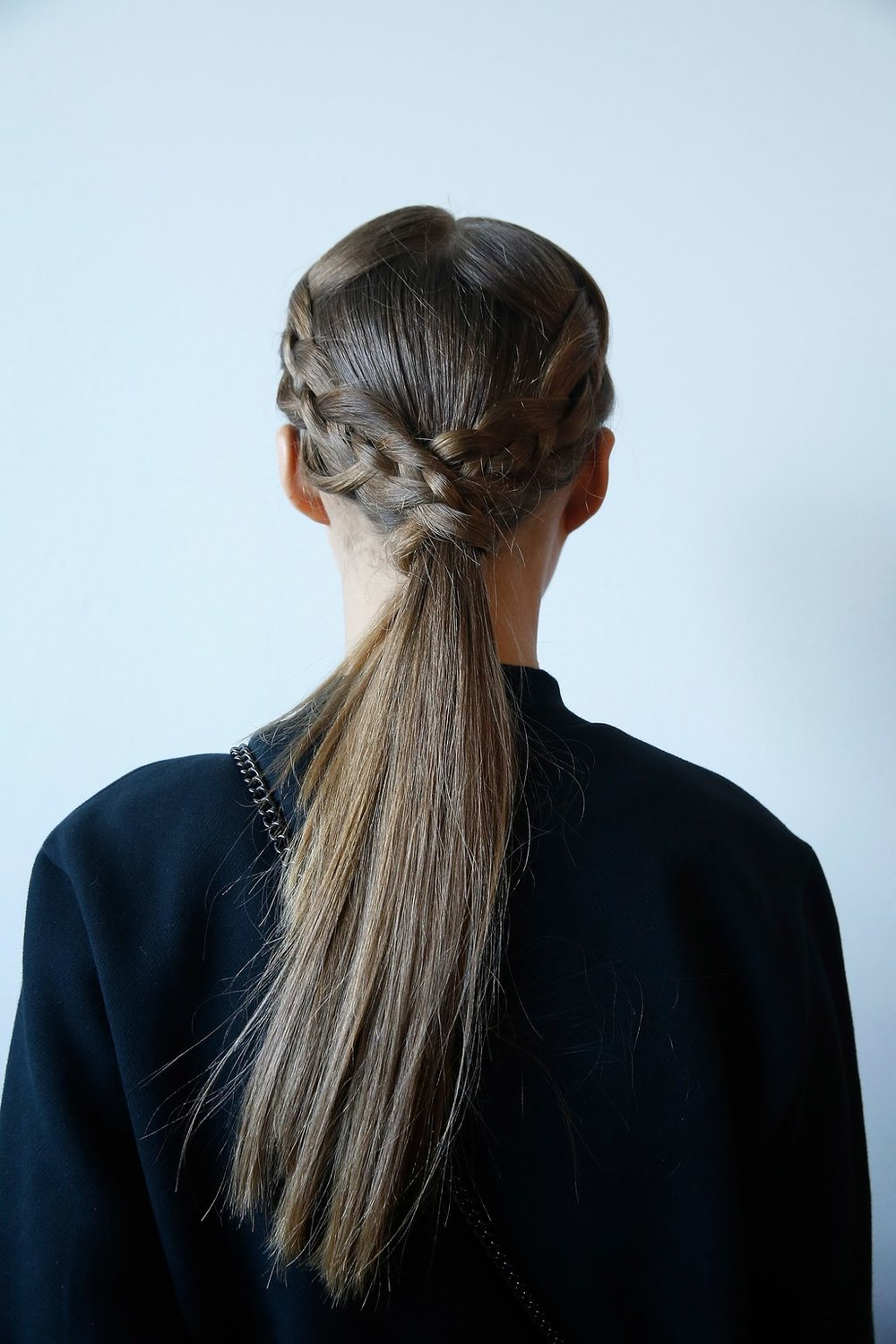 PHOTO: JOHN LAMPARSKI  The Smooth as Silk Braids at Christian Siriano