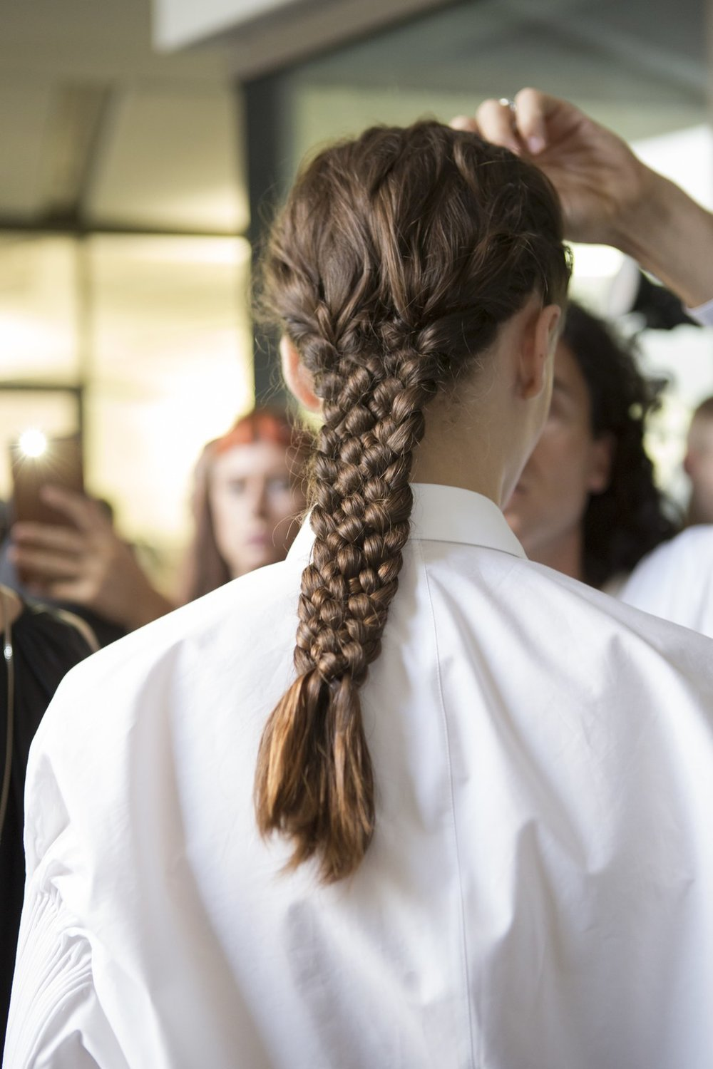 PHOTO: MATTEO SCARPELLINI; HAIR BY EUGENE SOULEIMAN  The Medieval Braids at Jil Sander
