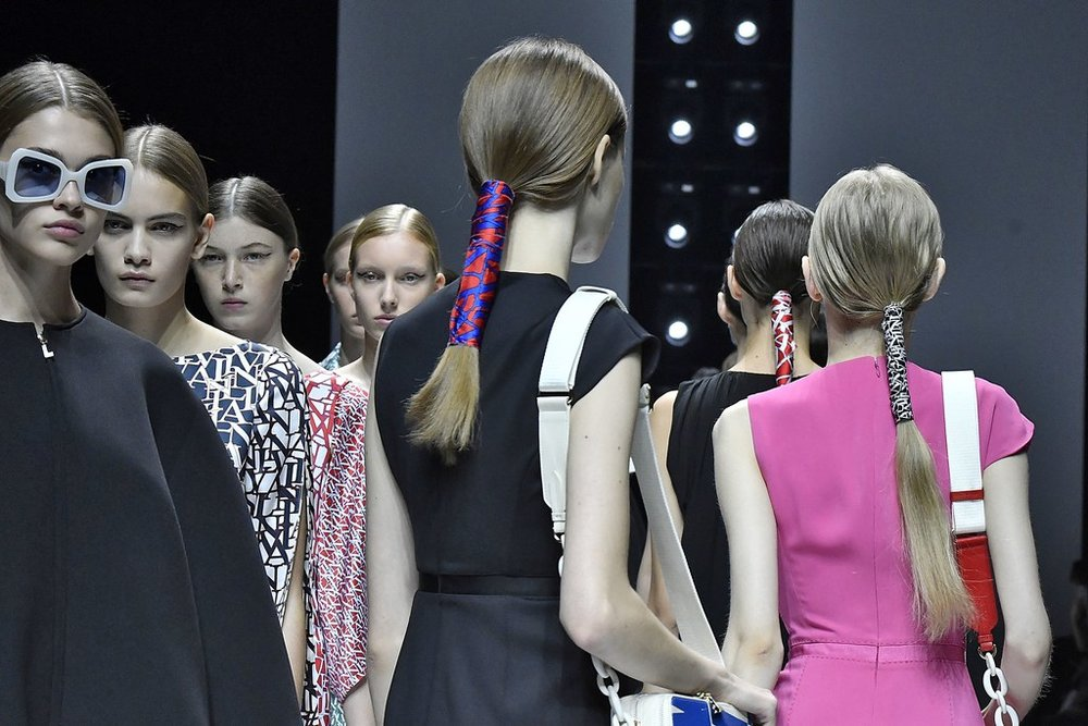PHOTO: VICTOR VIRGILE  The Rich Girl Ponies at Lanvin